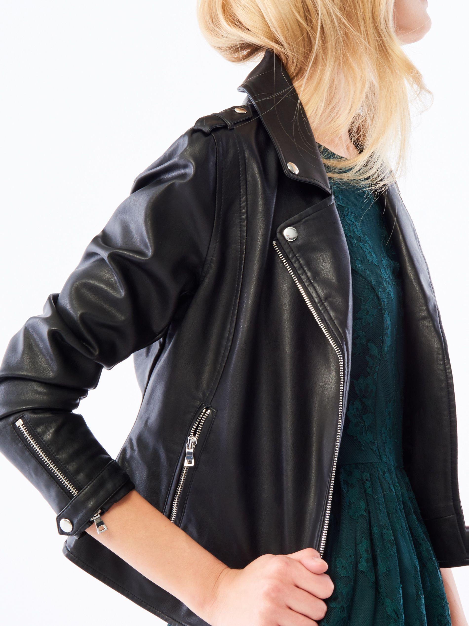 Ramaoneska After Hourse Bestsellers Czarny Mohito Fashion Leather Jacket Jackets