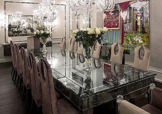 Tl Furniture Spectacular Grand Hand Worked Venetian Glass Dining Glass Dining Room Table Glass Dining Table Dining Room Interiors