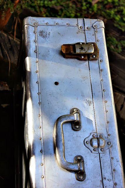 Olive Out: Vintage Aluminum Suitcase