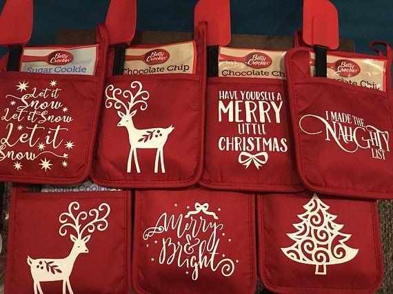 Christmas Pot Holder Gift Set Christmas Craft Show Cricut Christmas Ideas Easy Christmas Diy