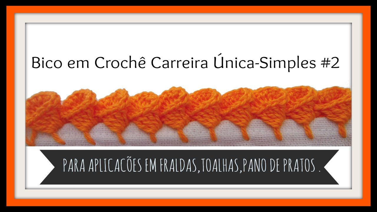 Bico Em Croche Carreira Unica Simples 2 Com Imagens Bico De