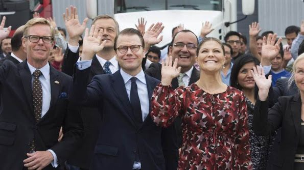 Crown Princess Victoria of Sweden and Prince Daniel visit Lima for an official visit to Peru on October 20, 2015.