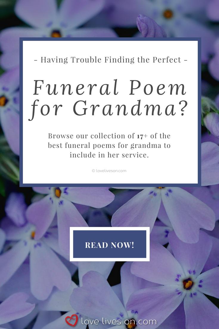 17 Best Funeral Poems For Grandma Sympathy Pinterest Funeral