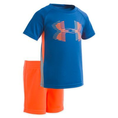 f4e543994d Under Armour Size 24M 2-Piece Sportster Shirt And Short Set In Green ...