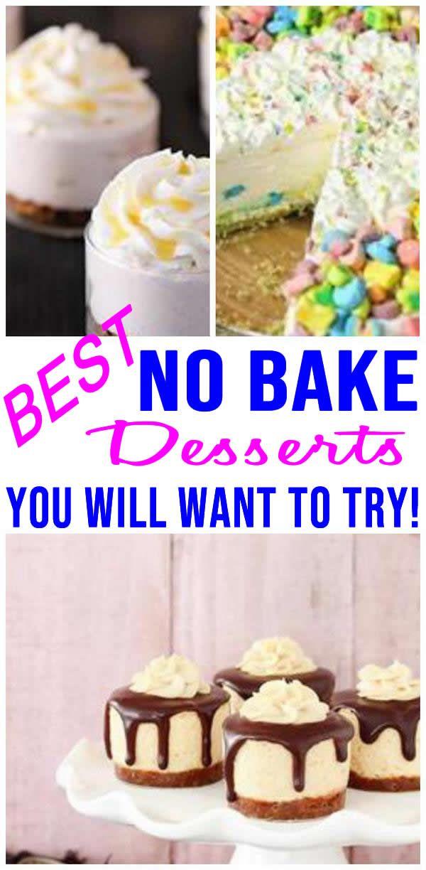 No Bake Dessert Recipes images