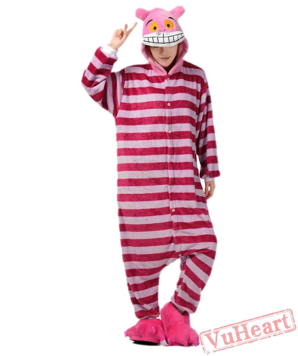 f86a4a0ea Cheshire Cat Kigurumi Onesies Pajamas Costumes for Women & Men in ...
