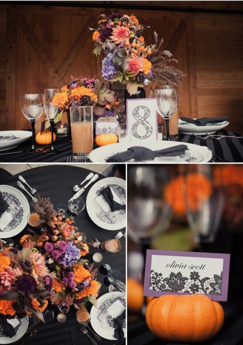 Halloween Wedding Table Decorations 41 Spooky But Elegant