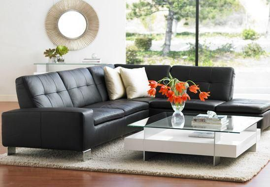 Black Leather Sofa 3 Cushion With Chaise Best Colour Cushions For Google Search Home