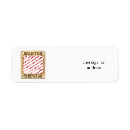 #WANTED Poster Photo Frame Return Address Label by #Frames4you