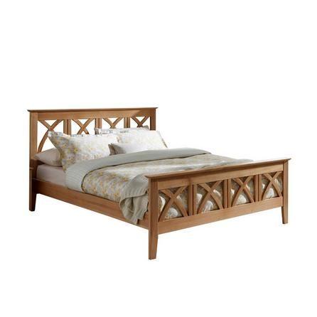 Maiden Oak Wooden Bed Frame With Images Bed Frame Wooden Bed