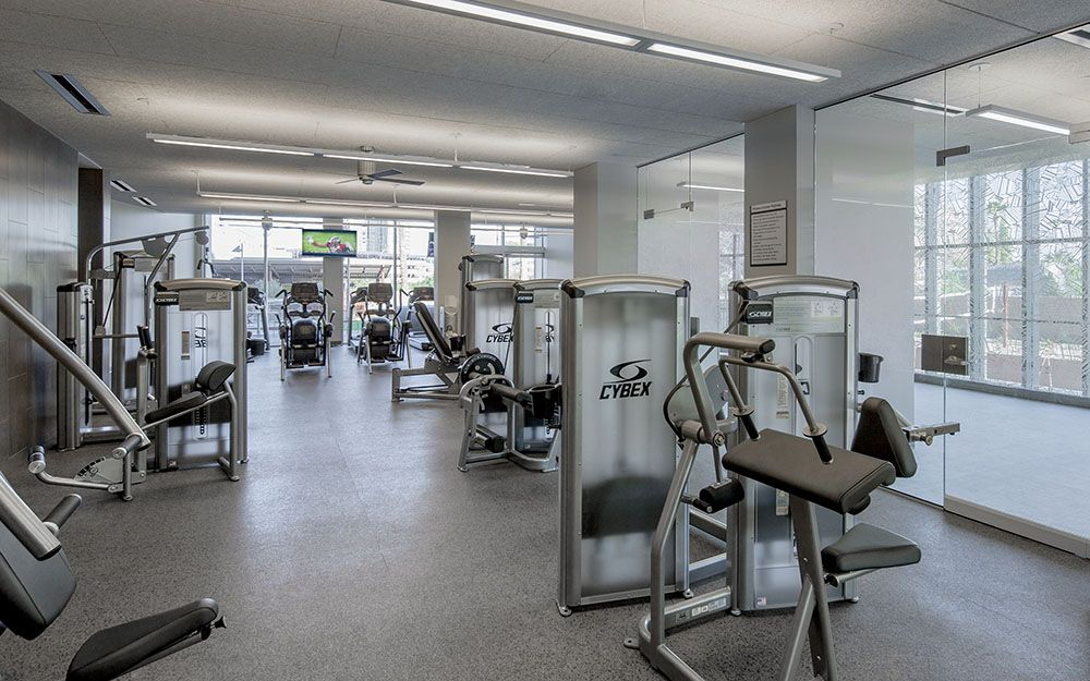 Manzanita Hall Has It S Own Gym For Residents On The First Floor Home Bathroom Styling Hall