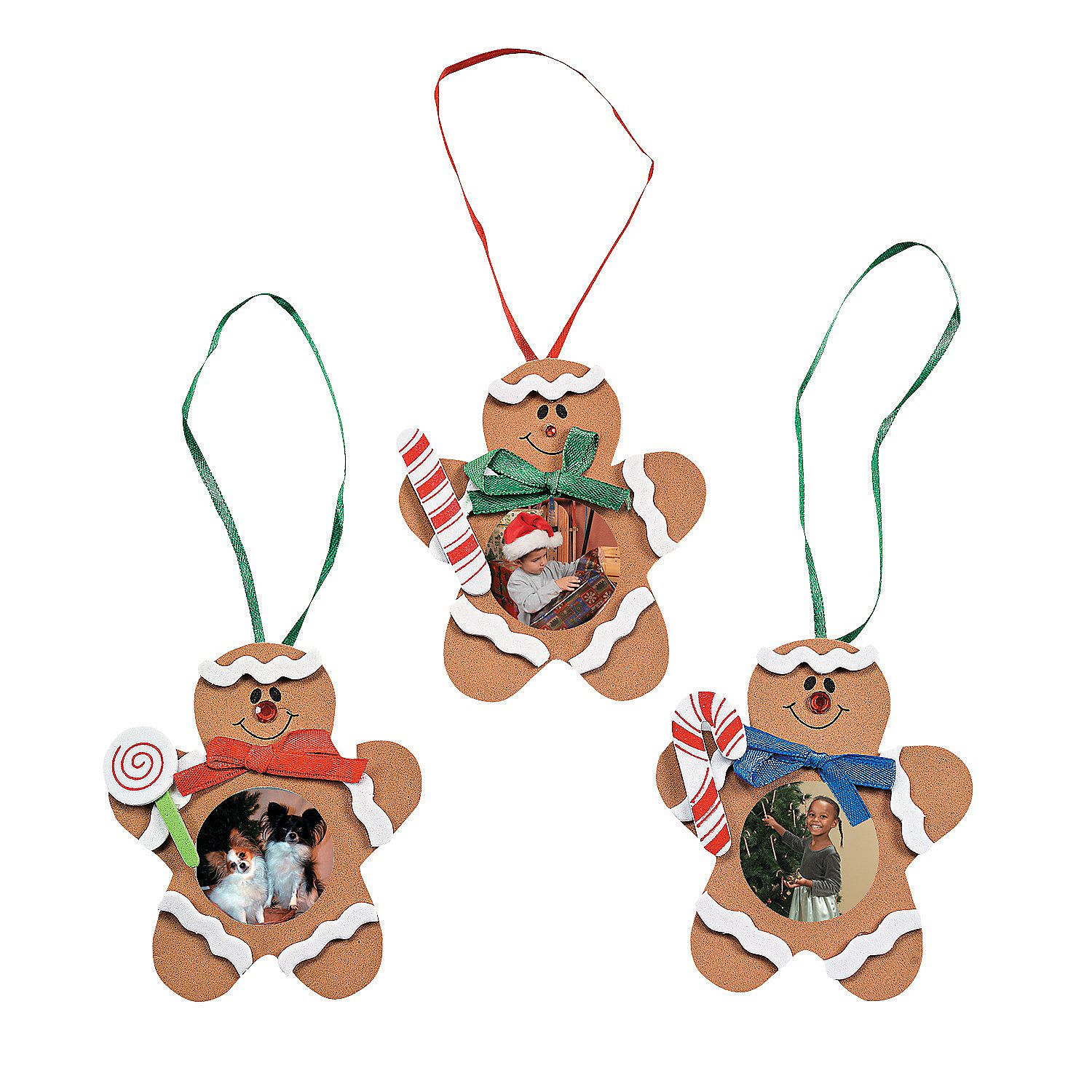 Gingerbread Man Photo Frame Ornament Craft Kit  Orientaltradingcom