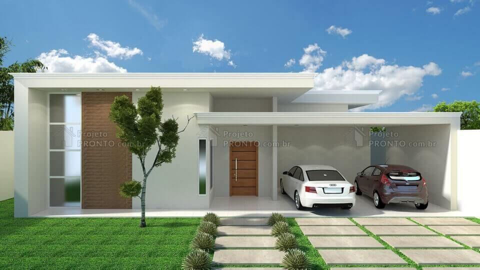 Projeto c015 em 2019 darci casas com 3 quartos for Fachadas de casas modernas de 2 quartos