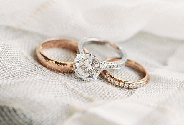 Solitaire diamond ring with diamond ring, white gold. View full inspiration: http://goodbyemiss.com/wedding/your-engagement-ring