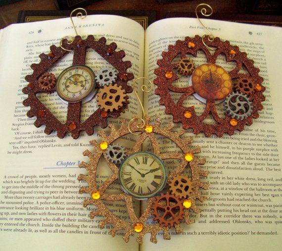 Warm Glittered Gears - Clockface