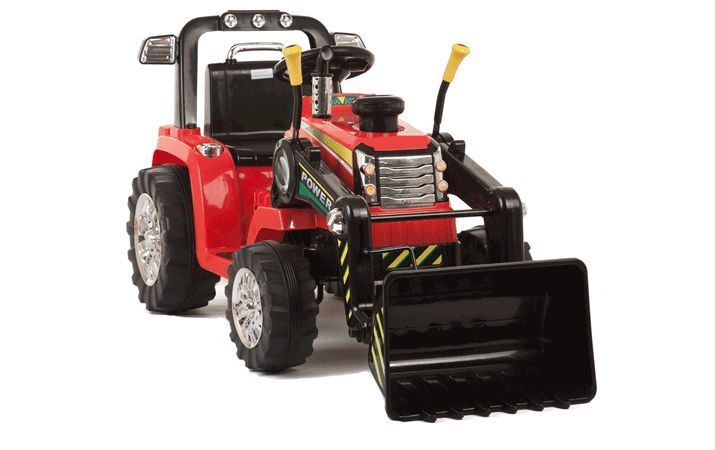 Red R C Twin Motor Tractor 12v Kids Electric Ride On