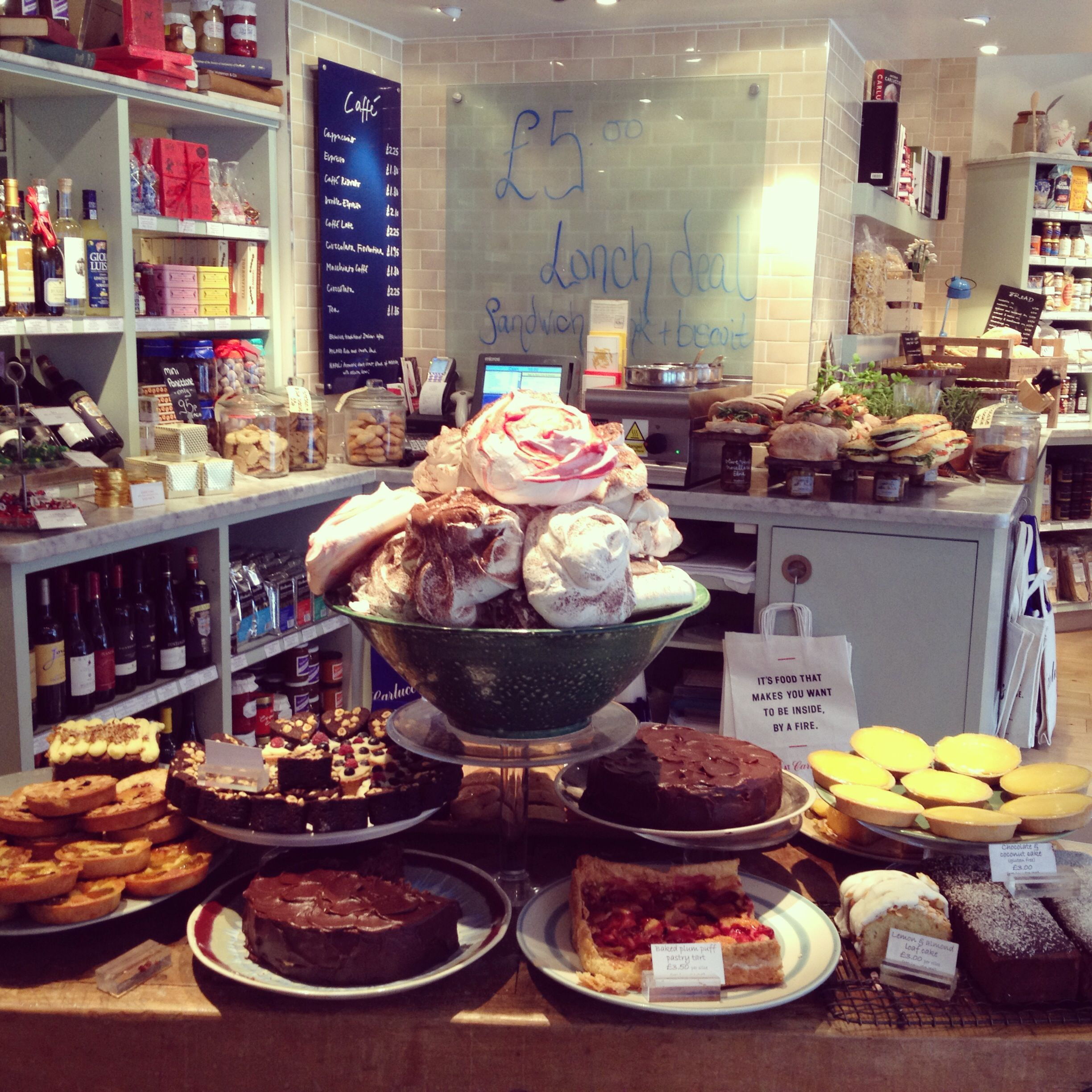 Cool Places In London For Lunch: Great Place For Coffee Carluccio's, 35 Rose Street In