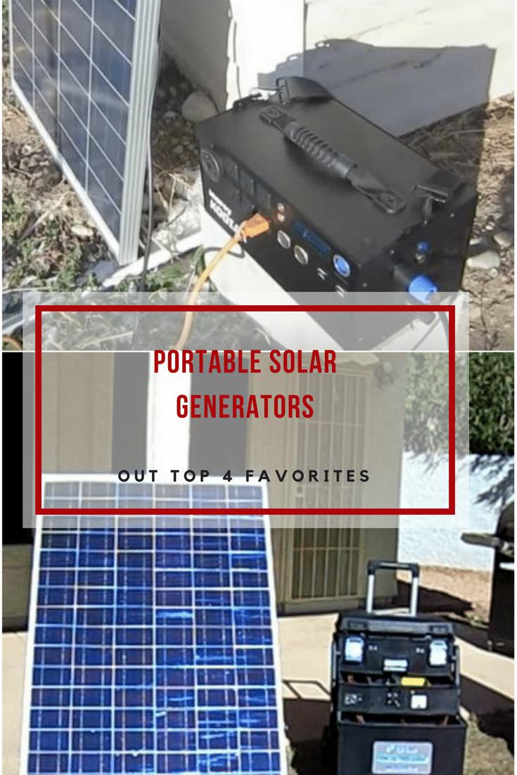 Portable Solar Generators Overview And Top 4 Recommendations Portable Solar Generator Solar Generators Best Solar Panels