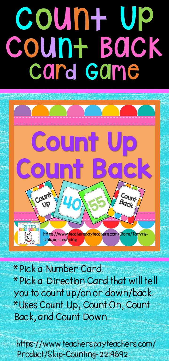 counting up and counting back | taryn's unique learning tpt store