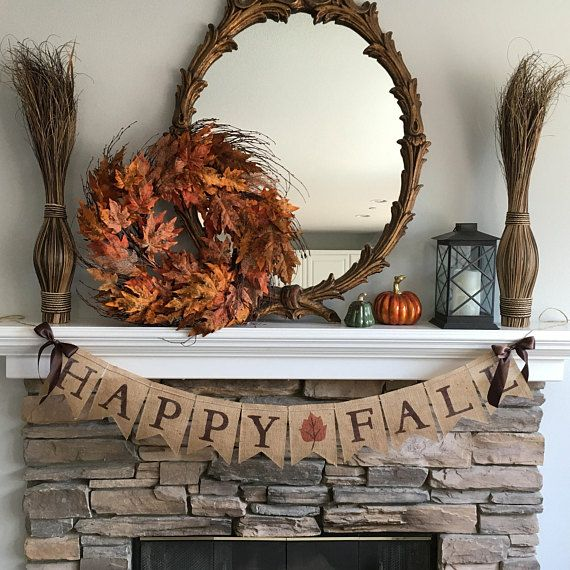 Happy Fall Burlap Banner. Fall Decor. Fall Banner. Fall photo prop images