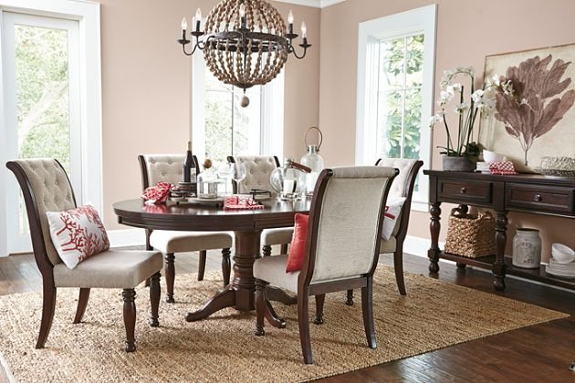 Rustic Brown Porter Dining Room Table View 2 | furniture | Pinterest ...