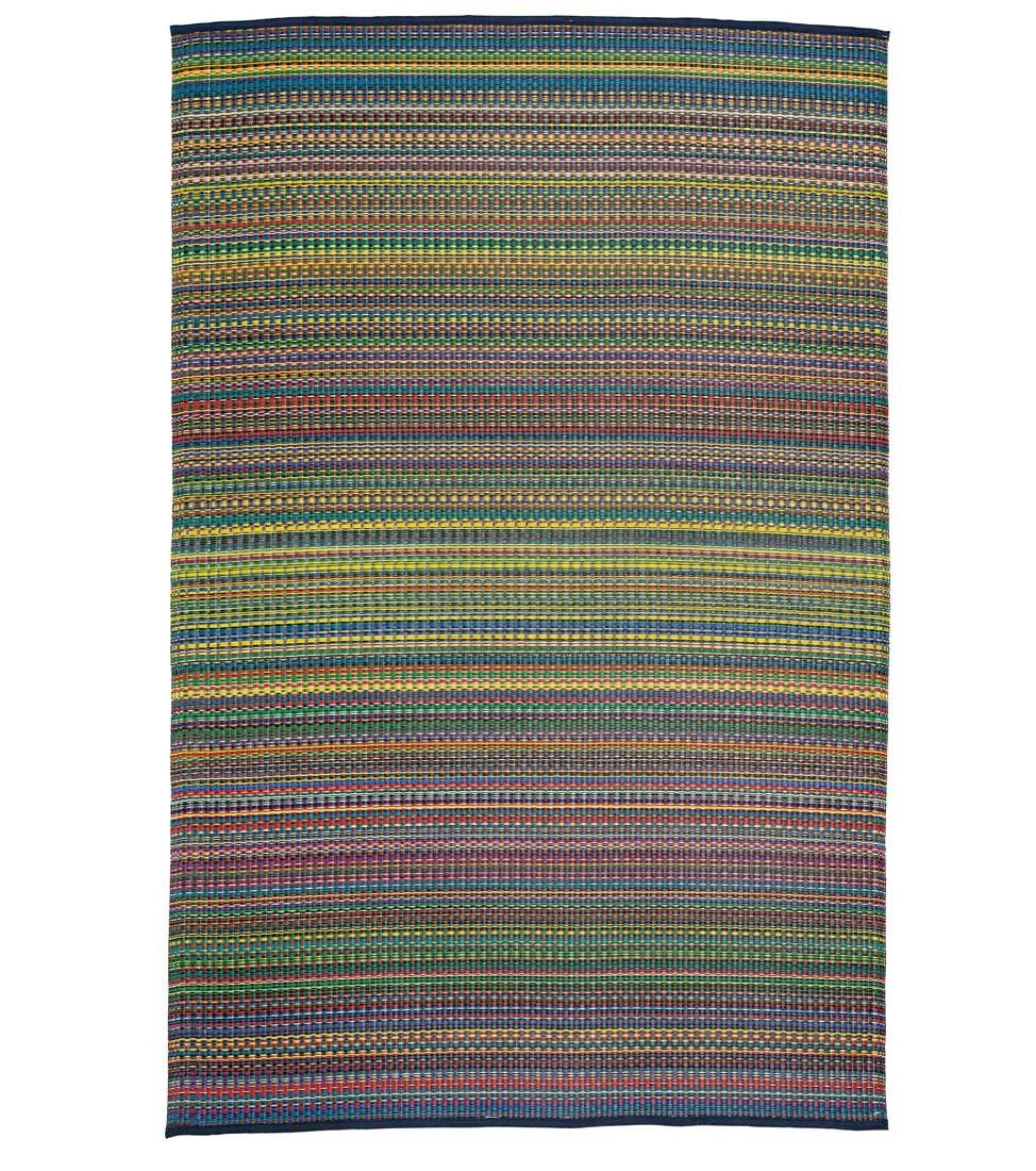 Reclaimed Rainbow Rug - VivaTerra made from recycled bottles and packing material scraps by Mad Mats