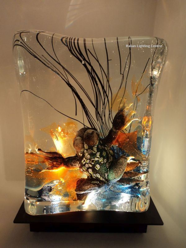 omg this murano glass aquarium table light is amazing we. Black Bedroom Furniture Sets. Home Design Ideas