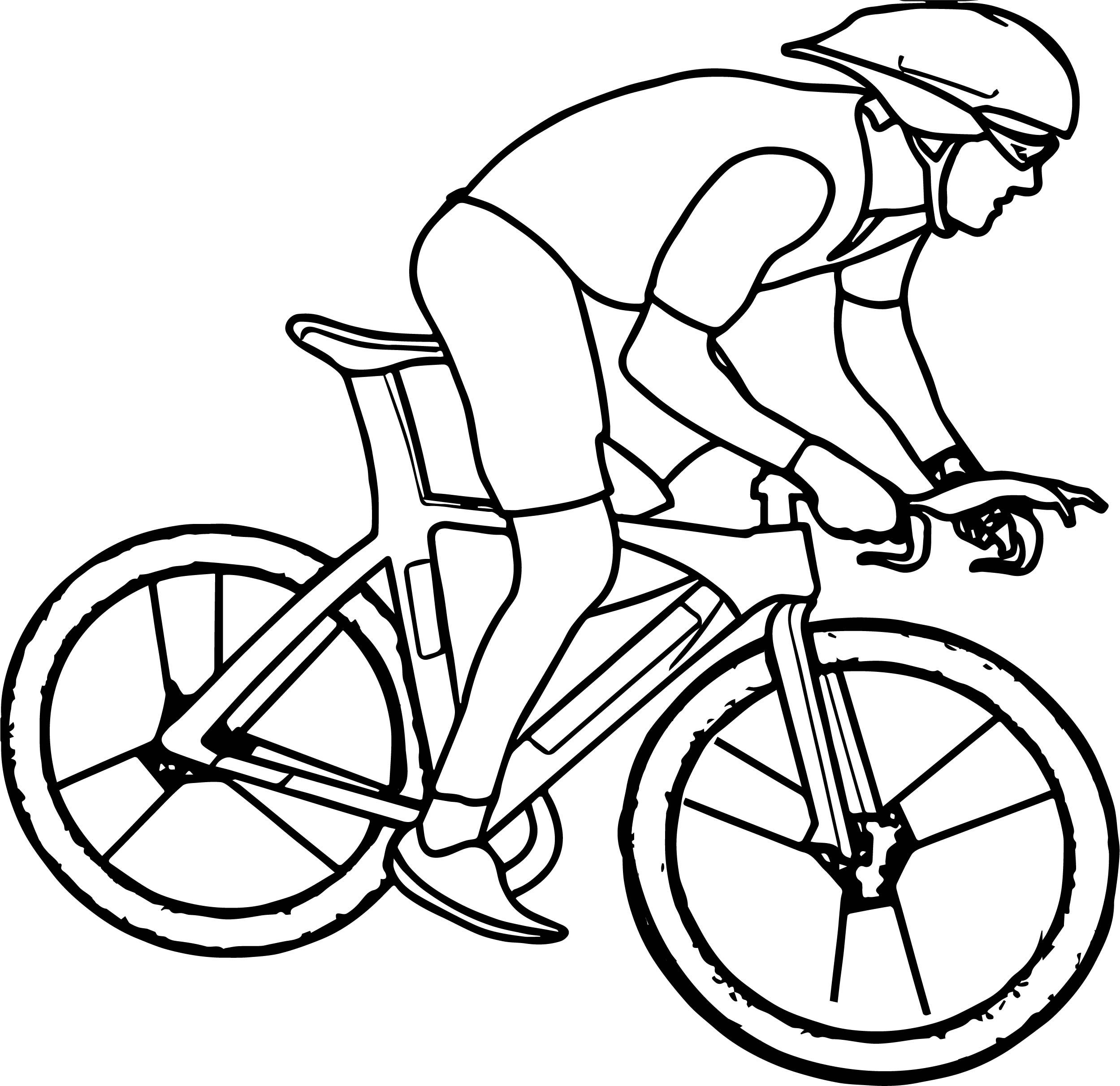 Cool Cycling Bike Coloring Page