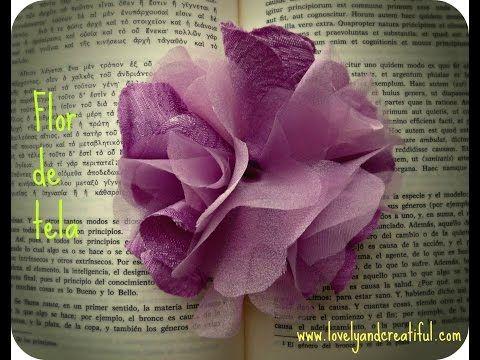 Como hacer flores con tela manualidades para vender - Manualidades faciles de hacer en casa ...