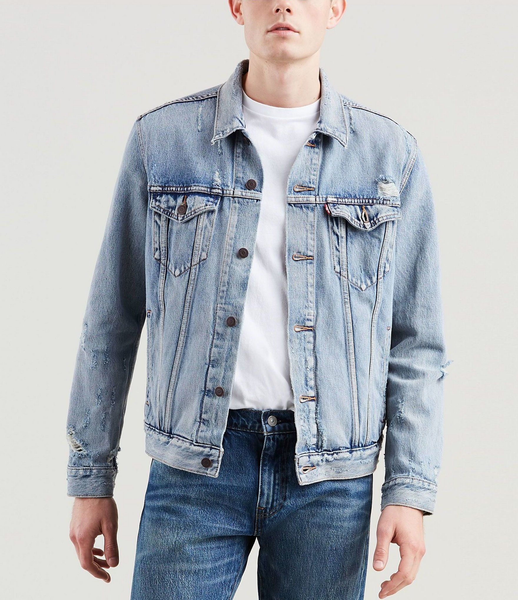 Levi S The Trucker Denim Jacket Dillard S In 2021 Denim Jacket Denim Jacket Men Jackets [ 2040 x 1760 Pixel ]