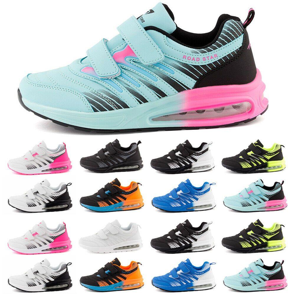 Damen Sneaker Sportschuhe Klettverschluss Freizeit Schuhe Turnschuhe Halbschuhe