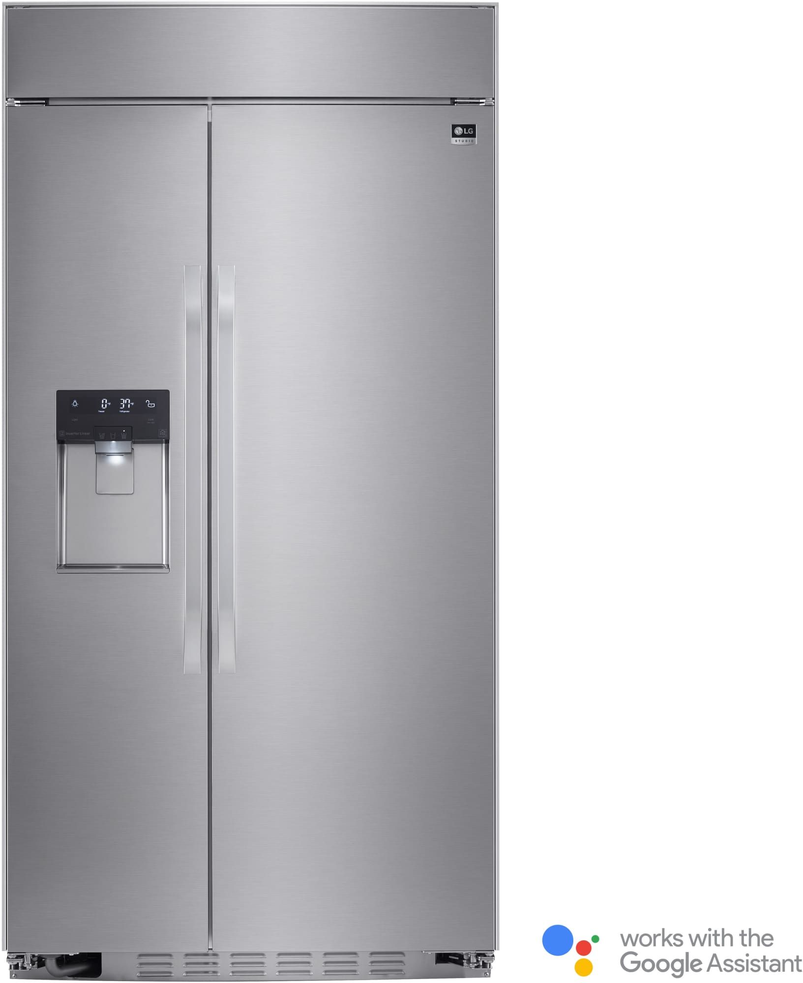 Lg lssbst inch builtin sidebyside refrigerator with