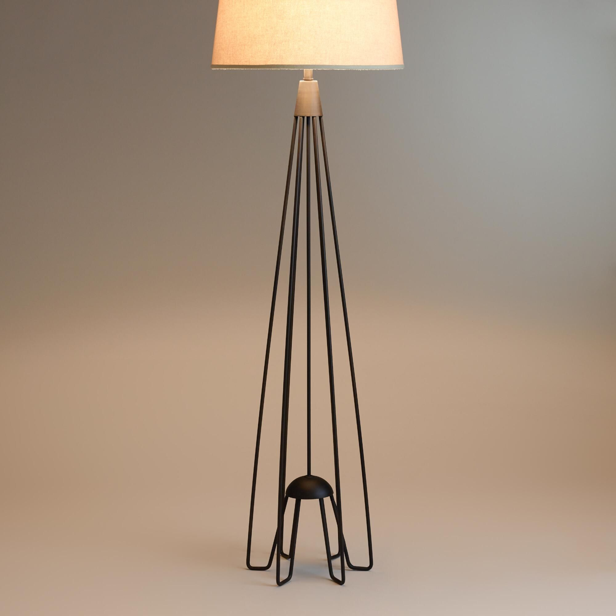 Iron Hairpin Kent Floor Lamp Base Hairpin Legs And Mid