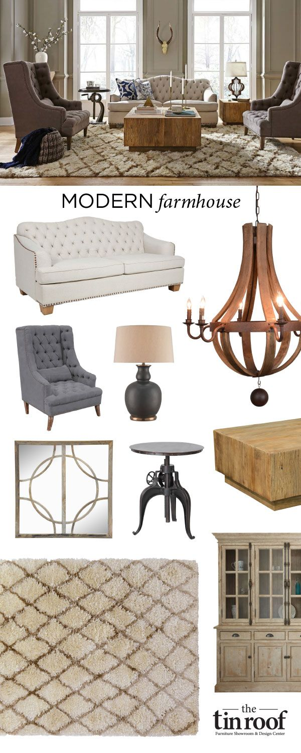 Modern Farmhouse Furniture And Home Decor Style Now Available At The Tin  Roof. Find Many