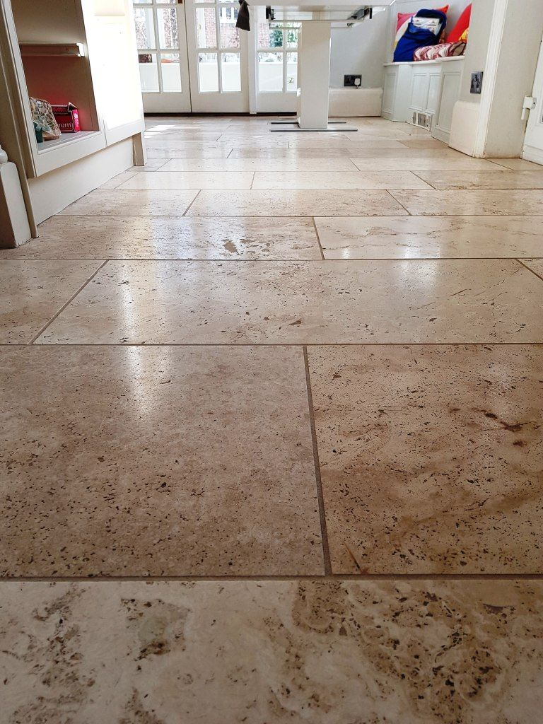 Renovating A Pitted Travertine Floor In Mottram St Andrew East Cheshire Stone Cleaning And Polishing Tips For Traverti In 2020 Travertine Floors Travertine Flooring