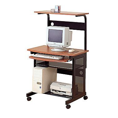 Very Handy Small Rolling Computer Desk. It Has A Convenient Roll Out  Keyboard Tray And An Upper Storage Shelf. Small Rolling Computer Desk  Features It Has ...