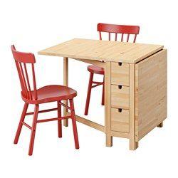 Norden norraryd table et 2 chaises bouleau rouge mon atelier reve pinterest plateau - Table couture ikea ...