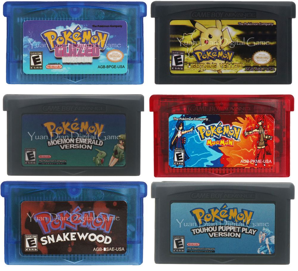 Pokemon Rom Hack Game Boy Advance GBA (Glazed, Moemon, Snakewood
