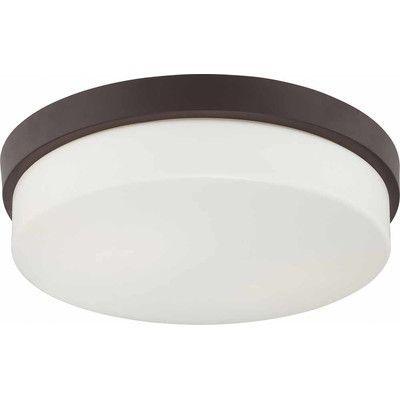 Volume Lighting 2 Light Ceiling Fixture Flush Mount Finish: