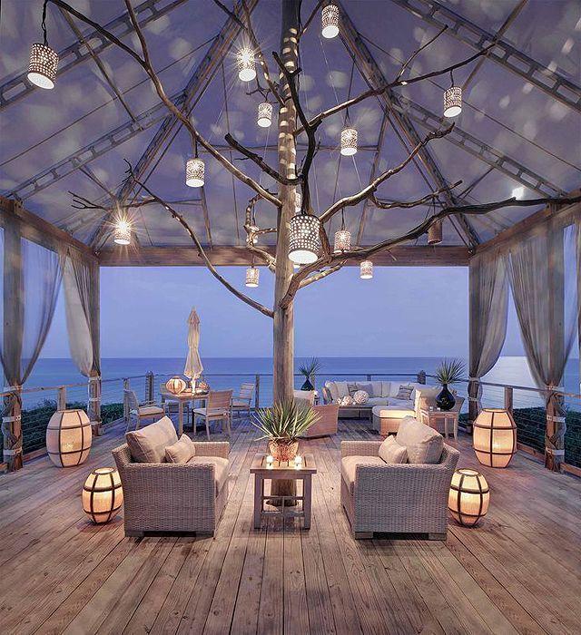Inspiration du0027une magnifique #terrasse en #bord de #mer ! #lumignons