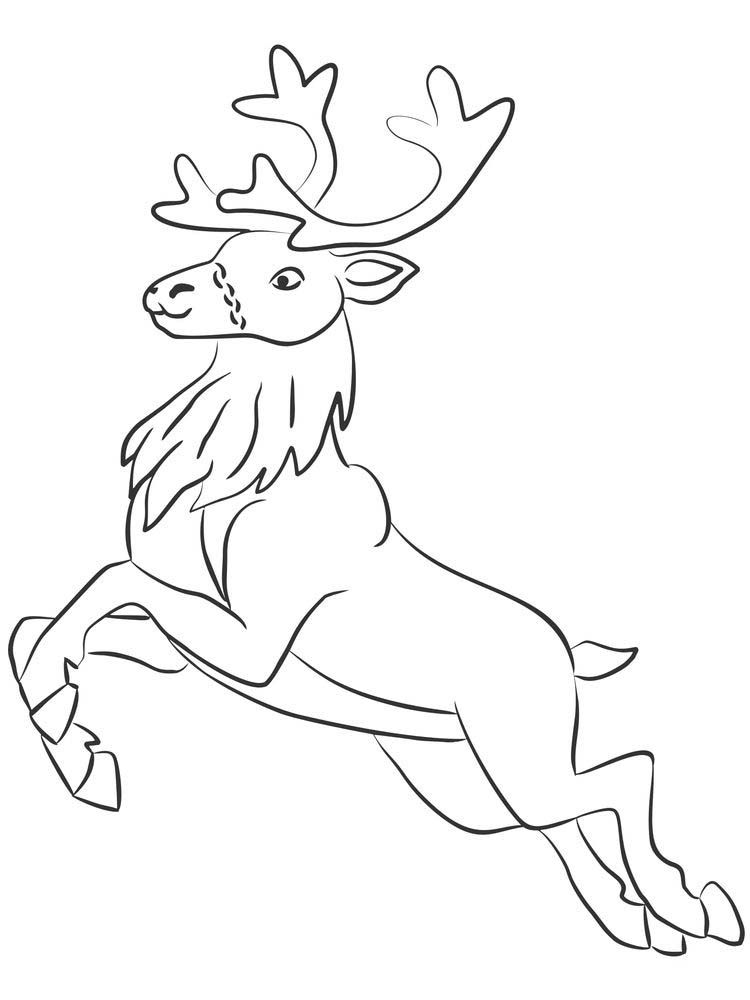 Reindeer Antlers Coloring Page Reindeer Are Animals That Are Considered To Be Very Numerous In Almost Al Reindeer Drawing Animal Coloring Pages Coloring Pages