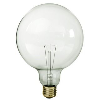 60 Watt G40 Clear 5 In Dia 130 Volt Decorative Globe Medium Base Pqb 80289 Globe Light Bulbs Globe Bulb Bulb