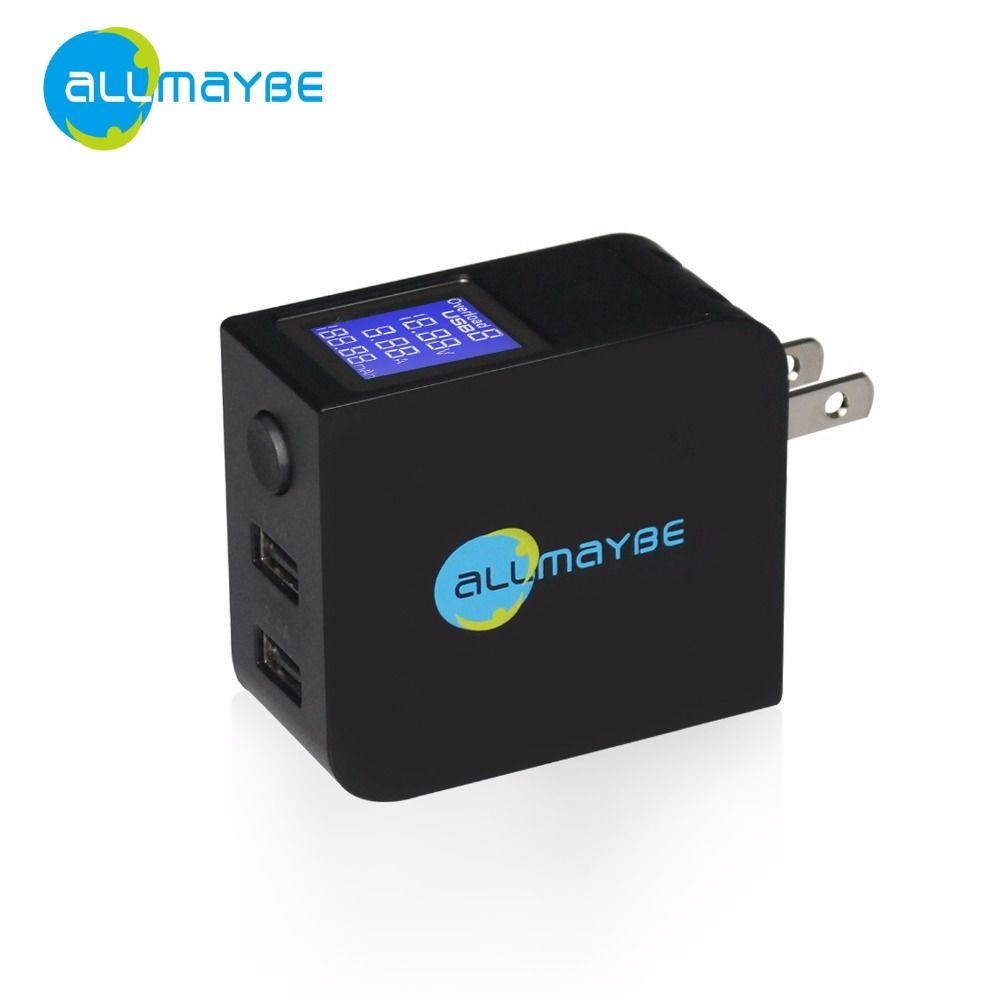 Allmaybe travel dual usb wall charger universal 2 ports