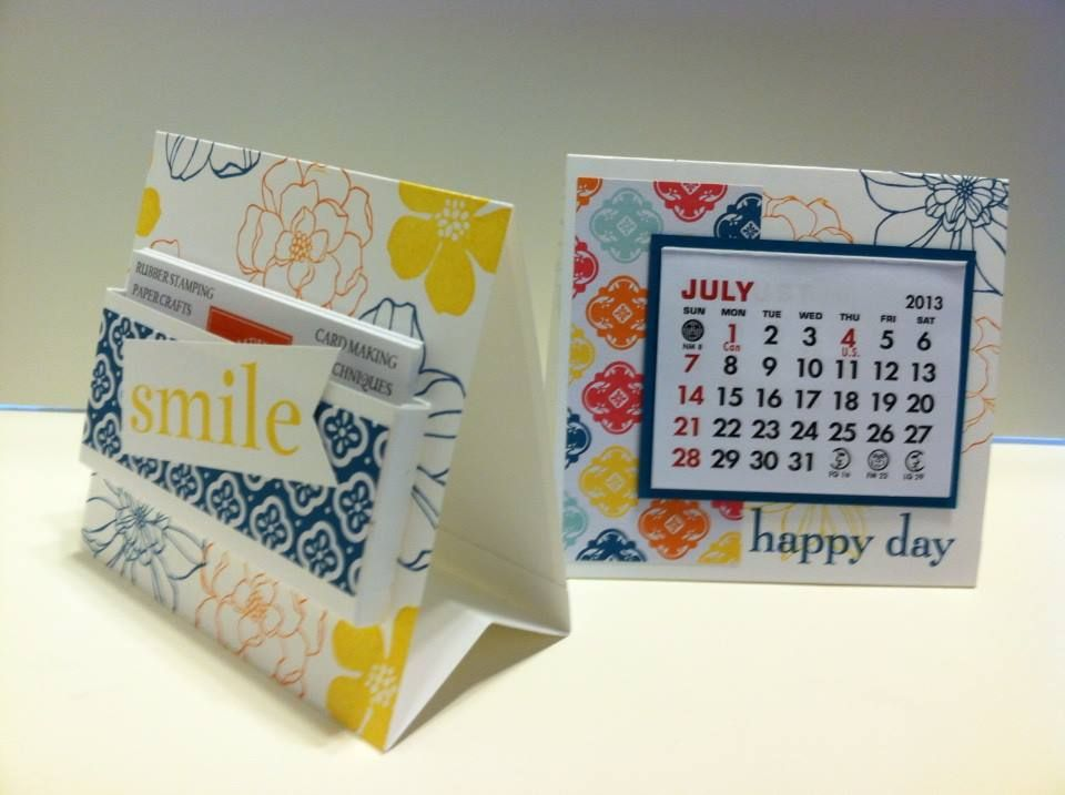 Stampin Up Calendar Ideas : My d swaps for convention calendar business holder