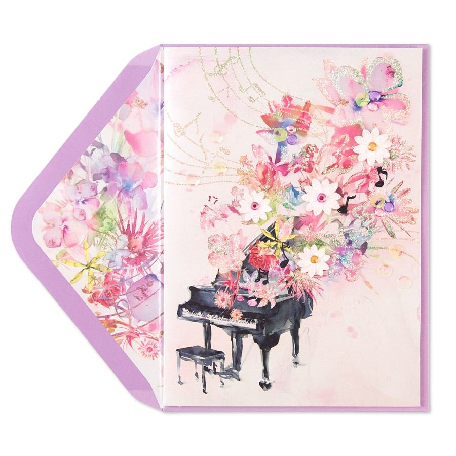Taylor Swift Floral Piano Blank Card Pianos Taylor Swift And Swift