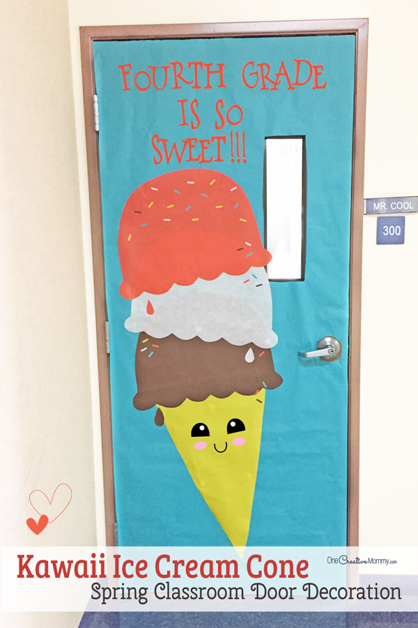 Easy Classroom Decor Ideas ~ Easy classroom door idea for spring ice