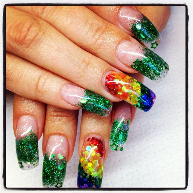 My St. Patrick\'s Day nails | Nail art | Pinterest | Diseños de uñas
