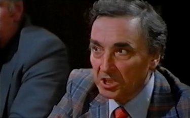 """Gianni Cajafa in """"Sbirro, la tua legge è lenta... la mia... no!"""" (1979)"""