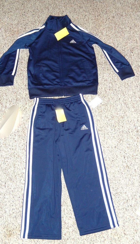 85d3000f904e Adidas Set of Warmup Jacket and Sweatpants Navy White Sz 4T NWT  48  adidas   SportWearEveryday