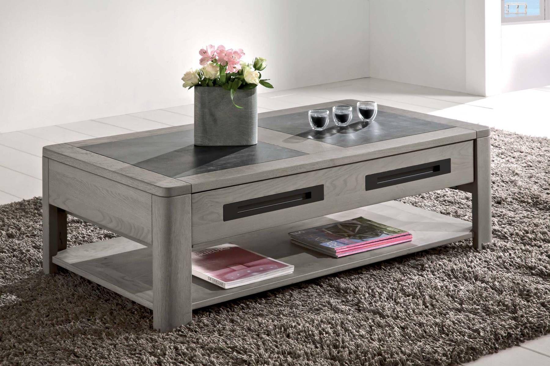 Deauvil Table Basse Rectangulaire Naturel Chene Table De Salon Table Basse Table Basse Ceramique